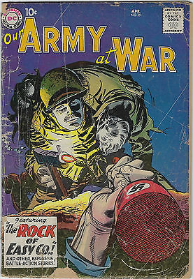 Our Army at War #81 (1959, DC) 1st App Sgt Rock, Bob Haney, Ross Andru, Fa+/G
