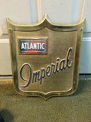 Atlantic Gas Oil Imperial Advertising Sign Pump Plate