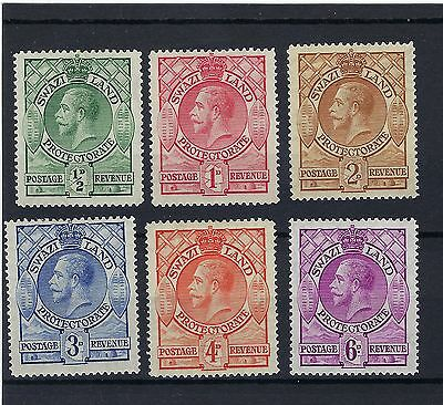 =Swaziland: 1933 George V SG11-SG16 MINT VERY LIGHTLY HINGED STAMPS.
