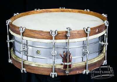"""1920s Wilson Bro Drum Company Snare Drum """"USN"""" Navy 15""""x5 Field : Brothers"""