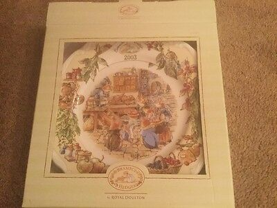 "Royal Doulton Brambly Hedge 2003 8"" plate boxed lovely condition"