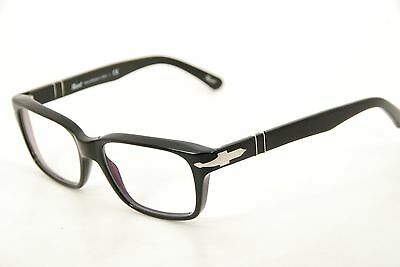 New Authentic Persol 2895-V 95 Black/Silver 52mm Italy Frames Eyeglasses RX