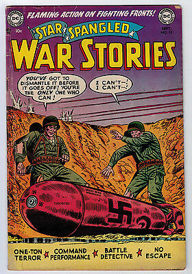 Star Spangled War Stories #13 3.5 Pre Code Kubert Art Off-White Pages Golden Age