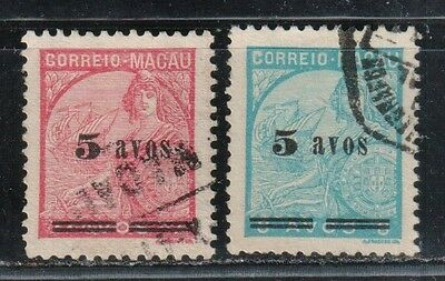1940-42 Portuguese colony in China stamps, Macao 5a, used SG 396-7