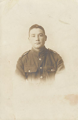 RPC Postcard: WW1 - Portrait of a British Territorial Soldier