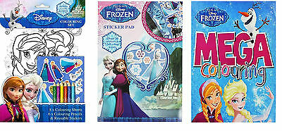Girls Gift Frozen Colouring Book Colour Sticker Activity Books Holidays Busy