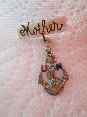 WWII USN / NAVY Son-in-Service / Mothers Broach Lapel Pin