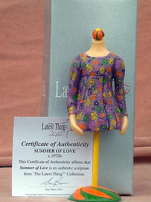 """The Latest Thing By Stacy Bayne """"summer Of Love"""" Box Manequin + Coa + Paperwork"""