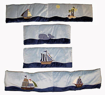 Ahoy Mate Traditional Appliqued Padded Bumper - by Nojo - ship  - Boat -Whale