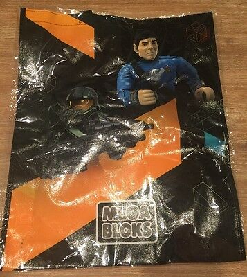 NYCC 2015 MEGA BLOKS Bag HALO Master Chief Star Trek Spock TMNT Monster High LG