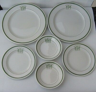 6 Piece Grindley Hotel Ware Municipality Of Chapleau Plates Bowls Ontario Canada