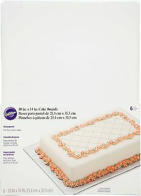 Wilton 10 x14 Cake Boards, Rectangle 6 Ct. 2104-554