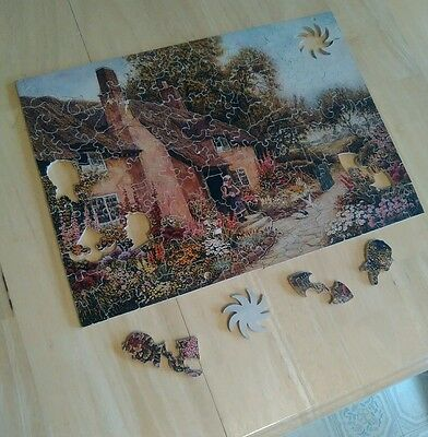 Wooden  Pastime Puzzle  ~ Beside  the Cottage~   201 pieces