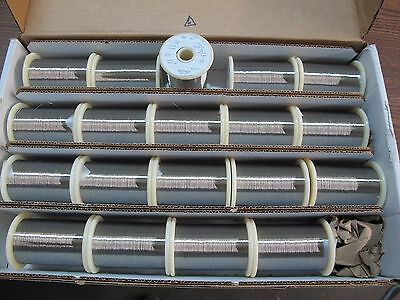 "Fort Wayne Metals 19 full spools NIB Stainless Steel 304V 0.004"" 7.8lbs B6"
