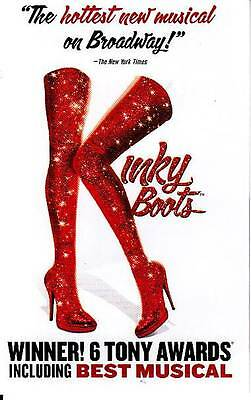 Kinky Boots Flyer Ad Broadway 2014 Nyc New York City