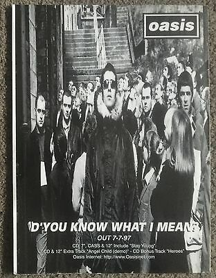 OASIS - D'YOU KNOW WHAT I MEAN 1997 full page magazine ad