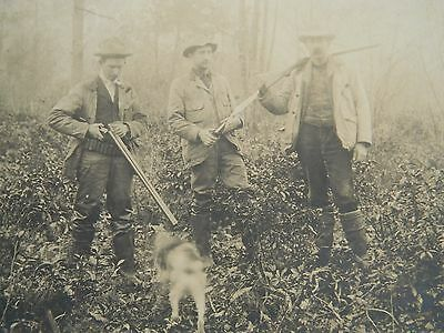 ca.1902 ANTIQUE / VINTAGE LARGE HUNTING & CAMPING PHOTOGRAPHS