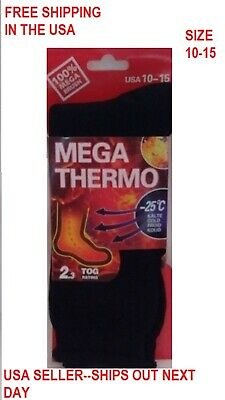 LOT OF 4-UNISEX-Heated-Socks-Thermal-MEGA-THERMO-2.3-TOG-SZ 10-15 FREE-SHIPPING