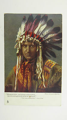 1900s Finnemore Vintage Postcard Native American Indian Sioux Warrior Chief
