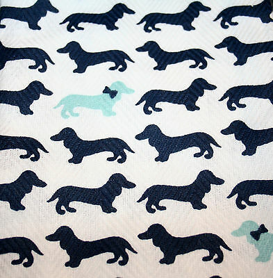 Cynthia Rowley Dachshund Kitchen Towels Bow Ties Formal Dog Rescue Set of Two
