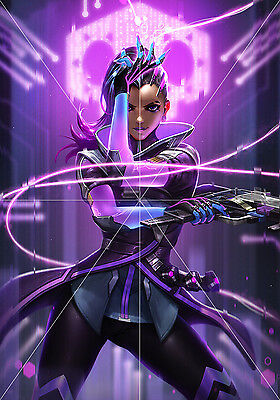 Poster Overwatch Sombra tamaño A3 42 x 30 cm. (16,5 x 11,8 inches)