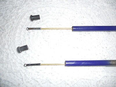 2 NOS Vintage Fishing Pole Rod ?Telescopic Tenkara Style?   Rod Reel Lures