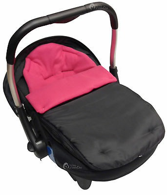 Car Seat  Footmuff / Cosy Toes Compatible with Silver Cross Dark Pink