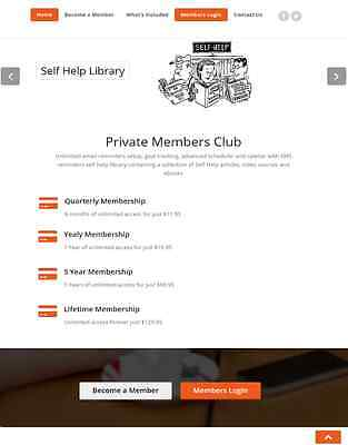 Email & Sms Text Reminders Membership Website For Sale! Mobile Responsive Design
