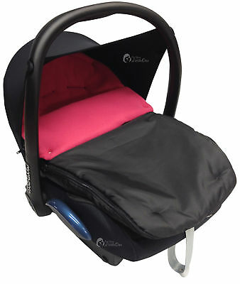 Car Seat  Footmuff / Cosy Toes Compatible with Maxi Cosi Pebble Cabrio Dark Pink