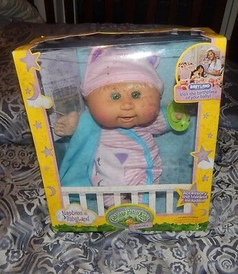 Cabbage Patch Kids CPK Naptime Babies at Babyland Blonde Hair Green Eyes Doll