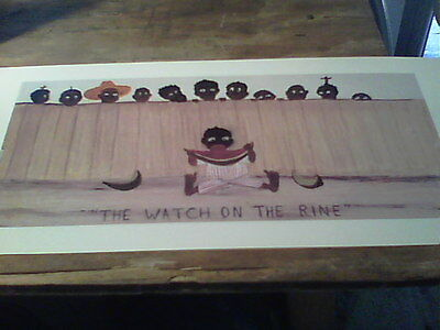 THE WATCH ON THE RINE ```..VERY UNUSUAL..Black  Memorabilia child `print