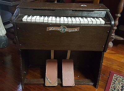 1950's 1960's LOVELY CHILDS PEDAL ORGAN ANTIQUE VINTAGE COLLECTABLE ORIGINAL TOY