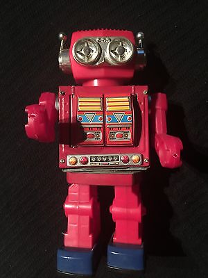 Rare Red Rotate-o-matic Super Robot by S.H. Horikawa Made Japan 1960's
