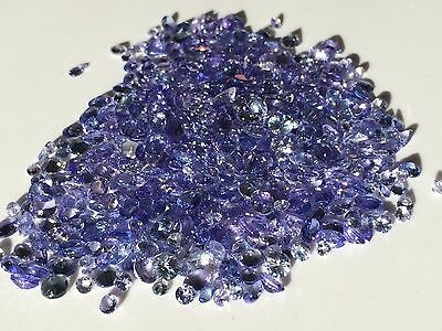 10 CARATS TANZANITE FACETED GEMSTONE LOT natural EARTH MINED BLUE MIX 2.5-5mm