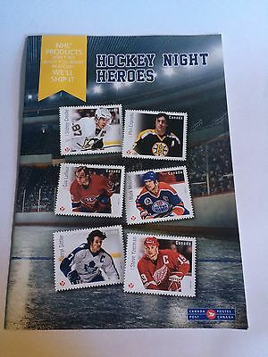 """NHL Canada Post """"Hockey Night Heroes"""" Fall 2016 Stamp & Coin Collectible Booklet"""