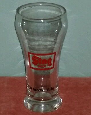 STAG BEER-It's Smooth It's Dry-Pilsner Glass-7 Ounce Vintage Advertising Barware
