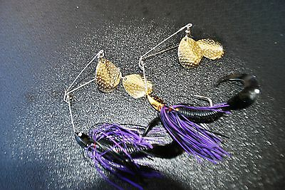 "2 X  Spinner Baits NewTwin Arm Lure Cod or Yellow belly (Spinnerbait) MUZZA""S"
