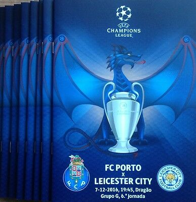 2016 FC PORTO v LEICESTER CITY CHAMPIONS LEAGUE PROGRAMME