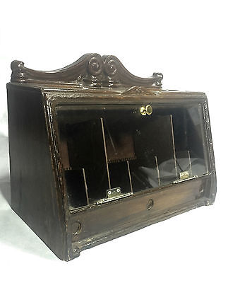 Cigar / Cigarette Shop Display Wooden Unit Storage Box Antique Vintage