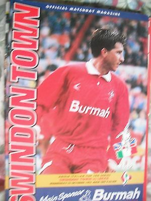 SWINDON TOWN v LEECE(Italy) 5.10.1994 Anglo-Italian Cup 3rd Series