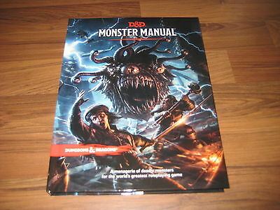 D&D 5th Edition Monster Manual Hardcover Core Rulebook WotC 2014 TRPG Neu New
