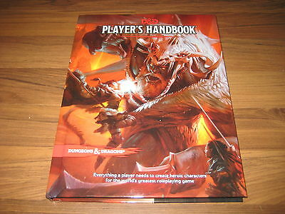 D&D 5th Edition Player's Handbook Hardcover Core Rulebook WotC 2014 TRPG Neu New