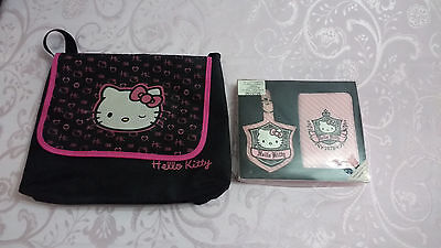 Hello Kitty Traveling Kit Travel Set Passport Holder Badge/Luggage Tag and Bag