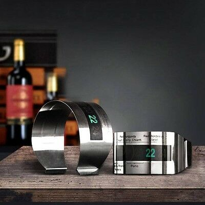 KCASA LCD Stainless Steel Wine Bracelet Thermometer Creative Wine Thermometer