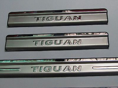New Volkswagen Tiguan stainless door sill scuff plate guards protector 2010-16