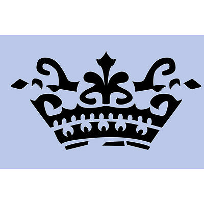 Victoria Crown Stencil A5 Re-Usable Royal Shabby Chic DIY French Paint Craft 009