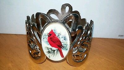 Lenox Votive Candle Holder With Cardinal, Silverplated Holidays