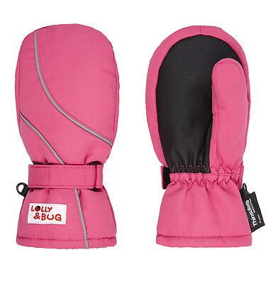 waterproof and warm pink mittens 2-4 years