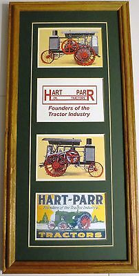 New Hart-Parr 4 Panel Collector's Solid Oak Framed & Matted Print
