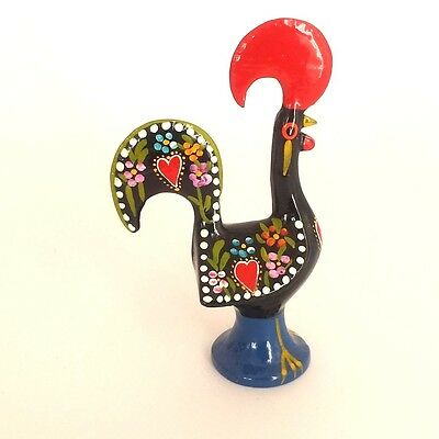 """Galo Barcelos Rooster of Luck Portuguese Hand Painted Souvenir 14 cm/ 5.5"""""""